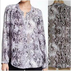 Daniel Rainn snakeskin print blouse